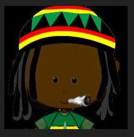 Rasta cartoon smoking