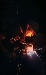 Making a Djembe Pic Darin